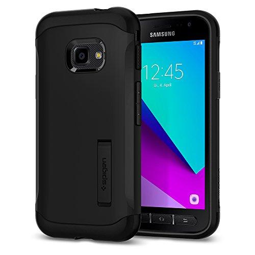 Spigen Slim Armor für Samsung Galaxy Xcover 4 / 4s Hülle Integrierter Kickstand Schutzhülle Case - Schwarz