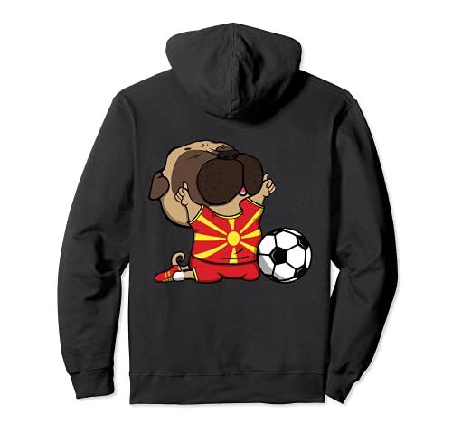 Pug Macedonia Los Amantes Del Ftbol Jersey Macedonian Fans Sudadera con Capucha