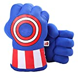 1 Pair Green Gloves, Green Smash Hands Big Soft Plush Fists Parent-Child Interactive Toy (Blue)
