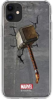 Skinit Clear Phone Case for iPhone 11 - Officially Licensed Marvel/Disney Mjolnir Hammer of Thor Design