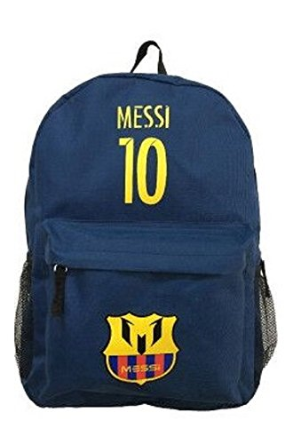 Barcelona Messi #10 Soccer Backpack School Bag Gift Dimensions H 16.3 x W 11.8 x D 5.9 in