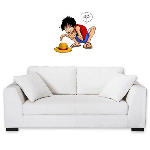 Okiwoki Sticker Mural One Piece et Seigneur des an. parodique Luffy et Gollum : Mon Précieux ! (Parodie One Piece et Seigneur des an.)