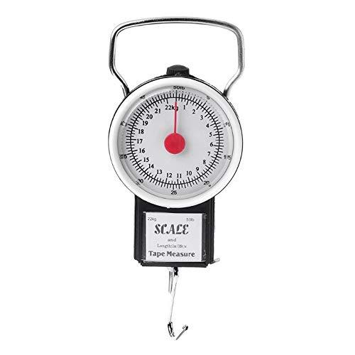 KEKEYANG 22 kg / 50lb Escala de colgaje portátil Equilibrio de Equilibrio de pesaje de pesaje de pesaje de Cocina con Escalas de Pesca de Cinta métrica Digital