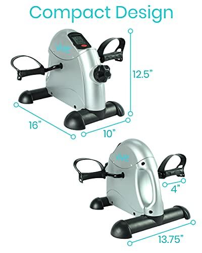Vive Pedal Exerciser - Stationary Exercise Leg Peddler - Low Impact, Portable Mini Cycle Bike for...