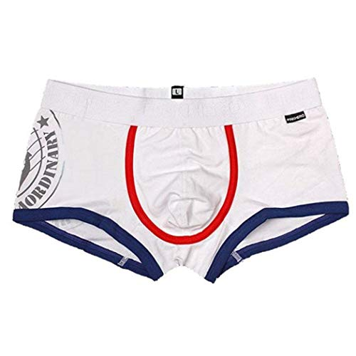 Vovotrade  Boxer da Uomo Pink Heroes Skinny in Regalo con Scaldavivande Pantaloncini Boxer in Cotone da Novizio (Color : Bianca, Size : L)