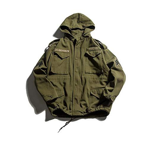 SHOES-HYY Beiläufige Baumwolle Herren Herbst Winter im Freien Militär-Jacke beiläufige Ladung Baumwolle Windjacke...