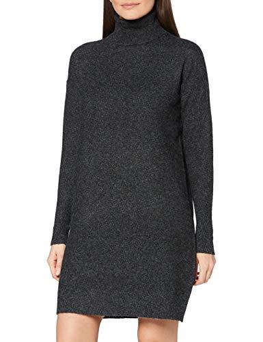 VERO MODA Damen Vmbrilliant Rollneck Dress Ga Noos Kleid, Schwarz, S EU