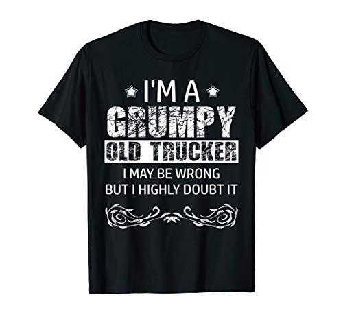 Mens Grumpy Old Trucker Sarcastic Truck Driver T-Shirt