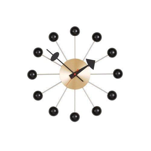 【正規取扱店】 vitra(ヴィトラ) Ball Clock(ボールクロック) Wall Clock ウォールクロック 掛け時計 デザイン:George Nelson(ジョージ・ネルソン) カラー:全5色 スイス デザイナー ビトラ パントン イームズ イサム ノグチ (ブラック×ブラス)
