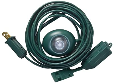 Woods 11203W 15-Foot Switch Light Extension Cord