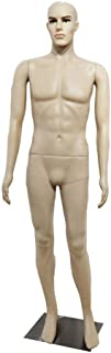 Full Body Human Male Mannequin Simulation Display Head Turns Dress Form w/Base