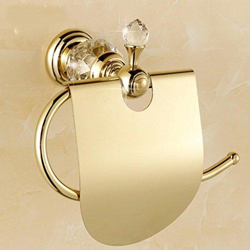 Toilette Porte-Serviette En Papier Tout Bronze Salle De Bains Étanche Porte-Papier De Toilette Porte-Rouleau En Or Cristal Rollsnownow