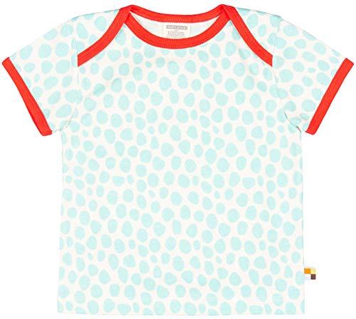 loud + proud Mädchen T-Shirt mit Druck, aus Bio Baumwolle, GOTS zertiziziert, Blau (Cloud Cl), 140 (Herstellergröße: 134/140)