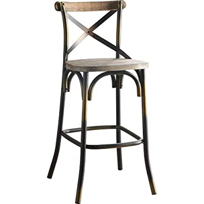 Sivaha Modern bar Chair with Foot Pedal, Suitab...