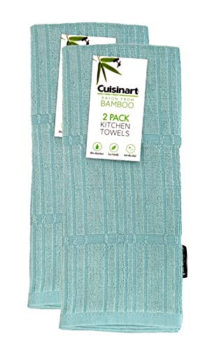 Cuisinart Bamboo Kitchen Hand Towels, 2pk - Soft, Absorbent, Anti-Microbial Decorative Towel Set...