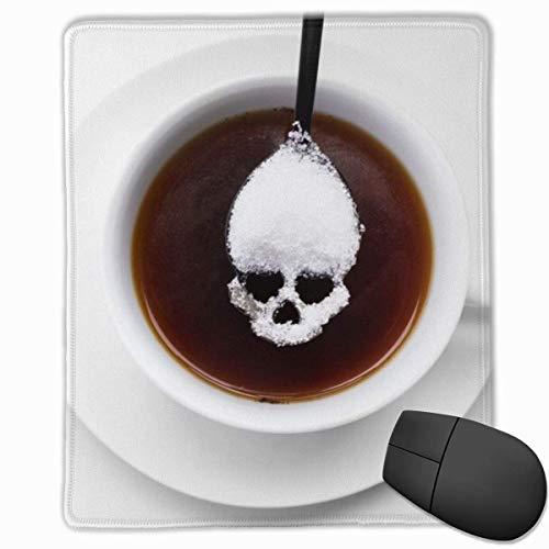 Mauspad Ungesunde weiße Zucker Konzept Schädel Löffel Geschwindigkeit Soft Gaming Maus Matte