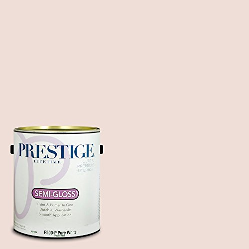 Prestige Paints P500-P-SW6315 Interior Paint and Primer in One, 1-Gallon, Semi-Gloss, Comparable Match of Sherwin Williams White Dogwood, 1 Gallon, SW29-White