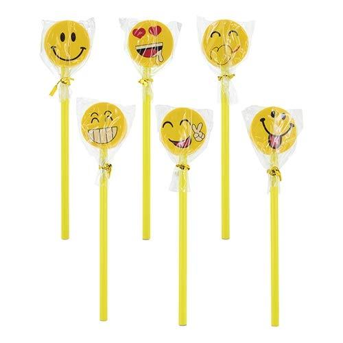 DISOK - Set de 24 Lapiceros Emoticono. Lapices con Forma de Emoji para niños. Lapices Escolares