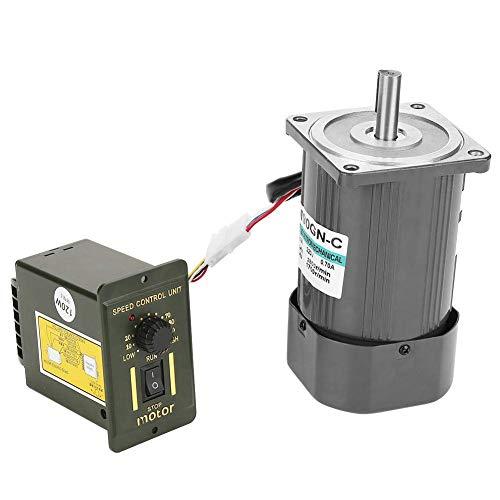 YEESEU Reducción del Motor de Engranajes, CA 220V 90W 5M90GN C-Gear Motor Reducción CW/CCW Motor con regulador de Velocidad (# 1)