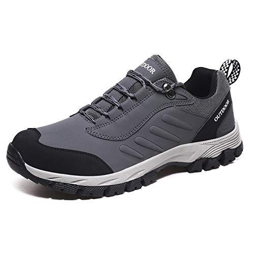 CCEO Men Footwear Hiking Shoes Men Trekking Shoe Low Top Waterproof Leather Trail Sneakers Slip Resistant Shoes Keen Shoes Mens Outdoor Grey