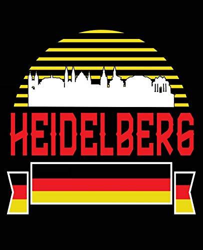 Heidelberg: Heidelberg Germany Deutschland Composition Notebook Back to School 7.5 x 9.25 Inches 100 College Ruled Pages Journal Diary Gift