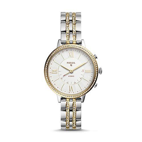 Fossil Jacqueline FTW5035 Hybride smartwatch voor dames, van tweekleurig roestvrij staal
