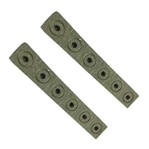 Xigeapg 12 StüCk Compress Base Praktische Steinwolle Multifunktions Medien Bl?Cke Hydroponic Garten Anbau Ohne Boden
