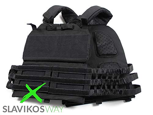 Slavikosway Gewichtsweste Training 9,1kg inkl. Gewichtsplatten Calisthenics 9010015 + 2 Liter Trinkflasche & 1x Faszienrolle