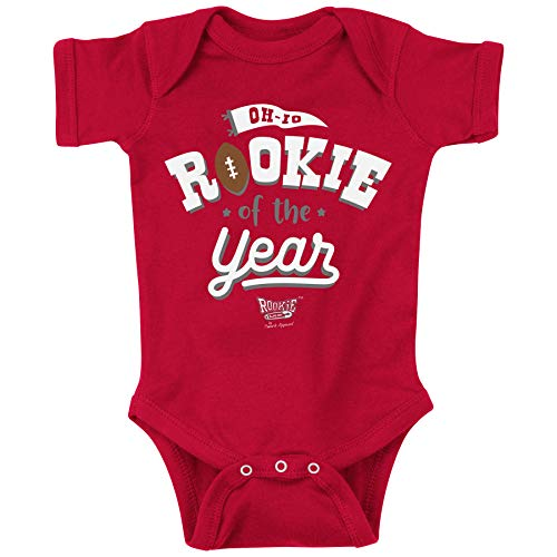 Ohio State Football Fans. Rookie of The Year Red Onesie or Toddler Tee (NB-4T) (Onesie, 12 Month)