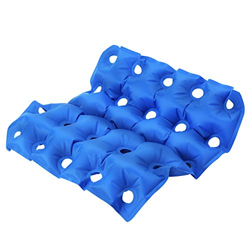 Inflatable Seat Cushion, Air Chair Cushions 16.5 * 16.9inch PVC Square Seat Breathable and Comfortable for Office Chair Car Wheelchair and Home