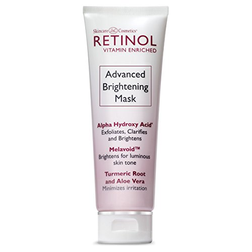Retinol Advanced Brightening Mask - Die Original Retinol 10-Minuten Anti-Aging-Behandlung - Peelt, klärt und glättet die Textur für jünger aussehende Haut und restaurierte Leuchtkraft