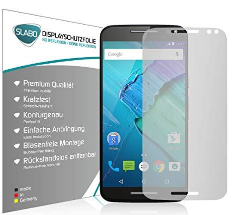 Slabo 4 x Bildschirmschutzfolie für Motorola Moto X Style (XT1572) Bildschirmfolie Schutzfolie Folie Zubehör No Reflexion MATT