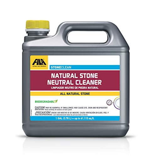 FILA Surface Care Solutions STONECLEAN, Professional Neutral Cleaner Concentrate Ideal for Natural Stone, Safely Cleans Marble, Granite, Travertine, Quartz, Eco-Friendly, 1 GAL