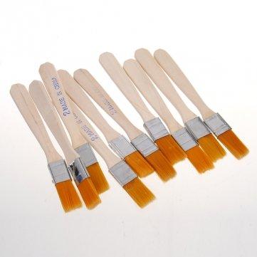 Qualität 10pcs BGA Solder Flux Paste Pinsel mit Holzgriff Reballing Werkzeug