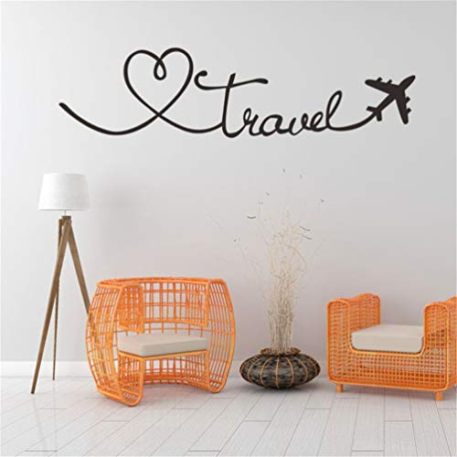 Wall Stickers Decor Motivational Saying Lettering Art Travel Themed Quote Home Decor Living Room Wall Words
