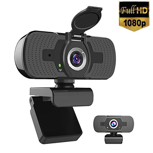iAmotus Webcam 1080P Full HD con Micrófono Incorporado y