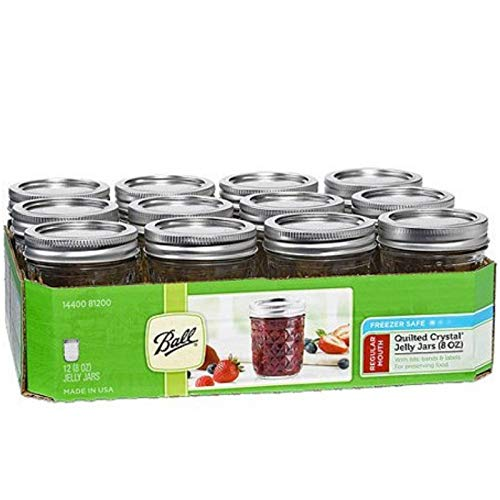 Ball 8 oz Quilted Crystal Jelly Jar, 12 Count