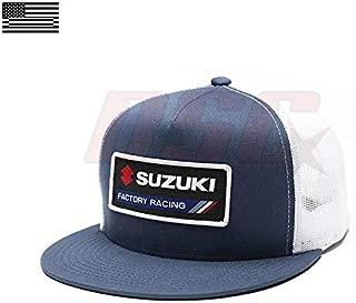 Suzuki Factory Motorcycle Racing Snap Back Trucker Hat