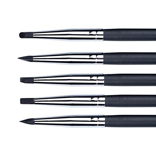 Meeden Set di pennelli professionali, con la punta in gomma al silicone, per pittura, 3mm Nib Width, 3mm Nib Width