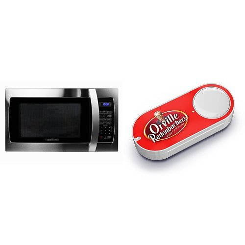 Farberware Professional FMO13AHTBKE 1.3 Cubic Foot 1000-Watt Microwave Oven, Stainless Steel & Orville Redenbacher's Gourmet Popping Corn Dash Button