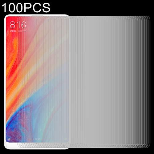 Zhouzl Pellicola in Vetro temperato per Telefono Cellular 100 PCS for Xiaomi Mi Mix 2s 0.26mm 9H Surface Hardness 2.5D Film in Vetro temperato antideflagrante Film di Vetro temperato
