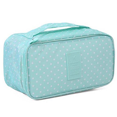 Durable Large Capacity Portable Sac de Voyage Cosmetic Vert Dots Wash Bag