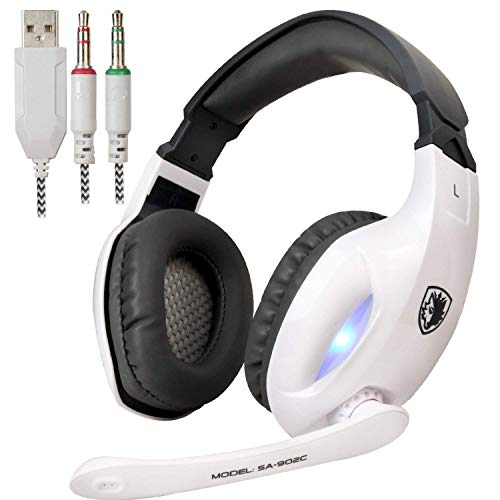 SADES SA902 USB Virtual 7.1 envolvente sonido Gaming Headset, Gaming...