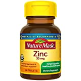 Nature Made Zinc 30 mg Tablets, 100 Count for...