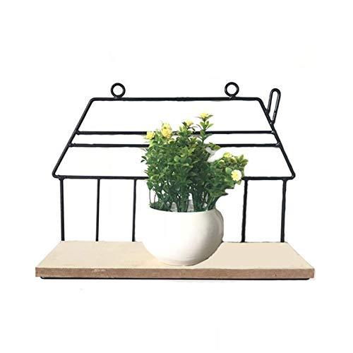 XLYYHZ Iron Art 1HUIYANG-01020 - Estante de almacenamiento para colgar en la pared para sala de estar, cocina, balcón, planta