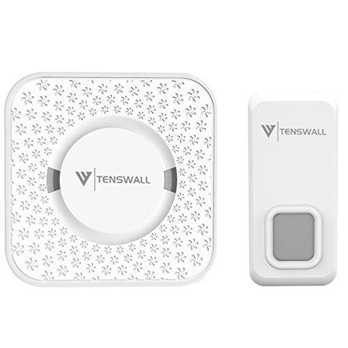 Tenswall Wireless Doorbell Kit Waterproof Door Chime - 1000 Feet Operating, 55 Chimes, 5 Level...