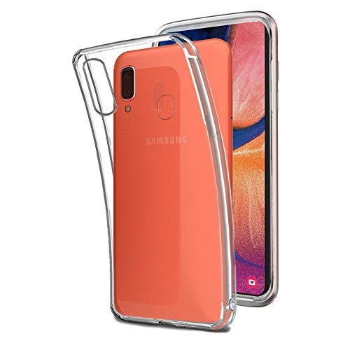 REY - Funda Carcasa Gel Transparente para Samsung Galaxy A20e, Ultra Fina 0,33mm, Silicona TPU de Alta Resistencia y Flexibilidad