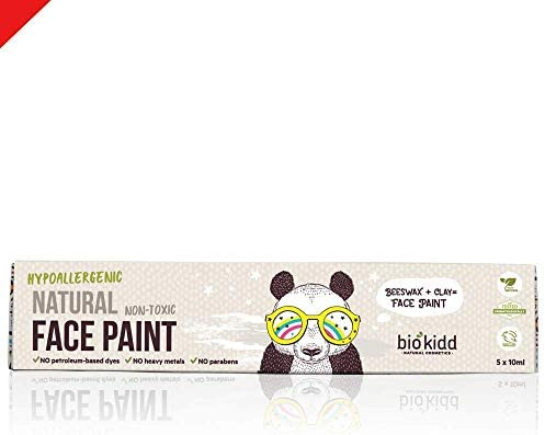 BioKidd Natural Face Body Paint Washable Cream Kit for Sensitive Skin Holiday Royal Party Face product image
