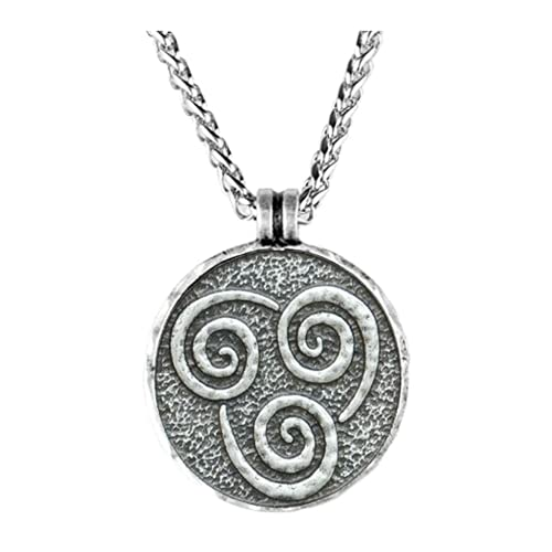 Colar Avatar A Lenda de Aang Corrente Prata Vintage Amuleto (Elemento Ar)