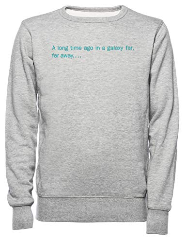 A Long Time Ago In A Galaxy Far,Far Away Dames Mannen Unisex Sweatshirt Trui Grijs Women's Men's Unisex Sweatshirt Jumper Grey
